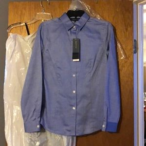 Jones NY fitted button up blouse